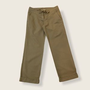 J. Crew City Fit Cotton Drawstring Cropped Pants